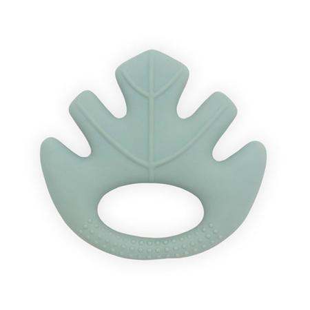 Immagine di Jollein® Massaggiagengive di gomma 100% naturale Leaves Ash Green
