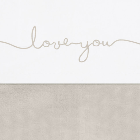 Jollein® Lenzuolo di cotone Love you Nougat 100x75