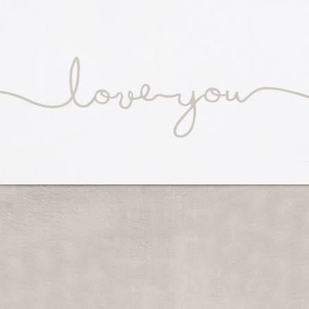 Jollein® Lenzuolo di cotone Love you Nougat 150x120