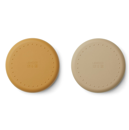 Immagine di Liewood® Set di piatti in silicone Mr Bear golden caramel/oat mix