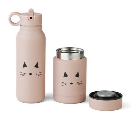 Liewood® Set contenitore termico e thermos Marlow Cat Rose
