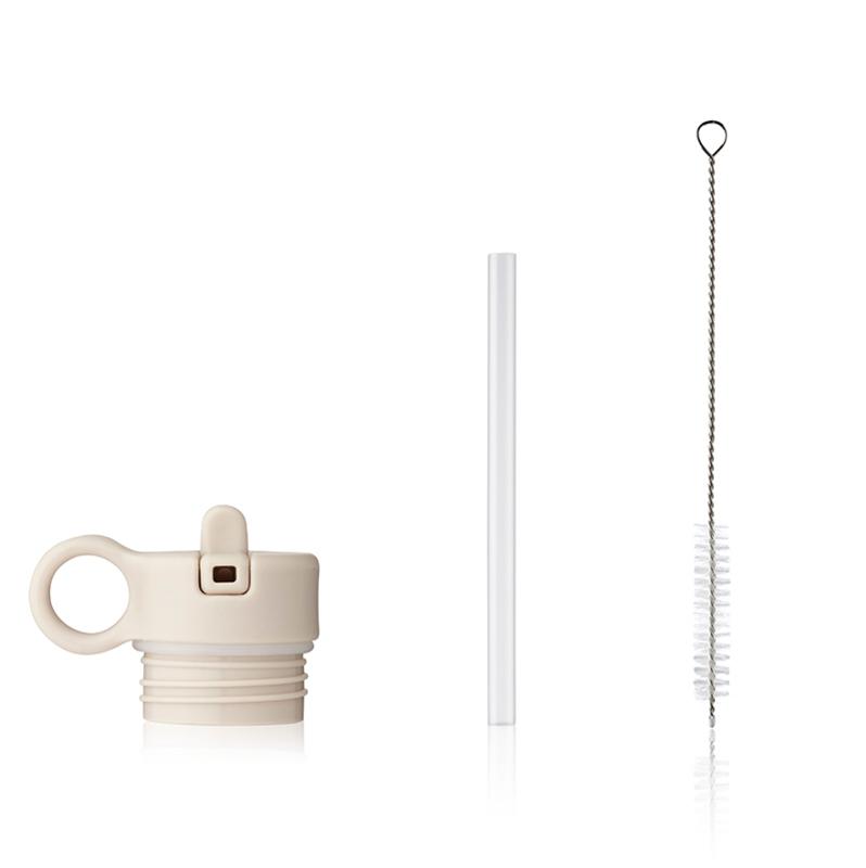 Immagine di Liewood® Coperchio con cannuccia e spazzolino per pulire la boraccia Falk 250ml Sandy