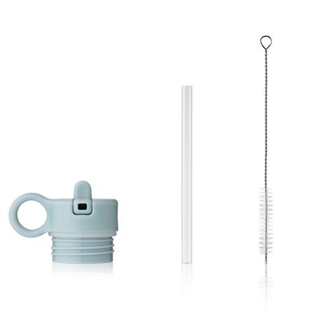 Immagine di Liewood® Coperchio con cannuccia e spazzolino per pulire la boraccia Falk 250ml Sea Blue