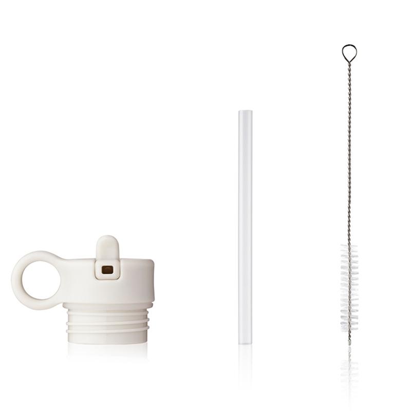 Immagine di Liewood® Coperchio con cannuccia e spazzolino per pulire la boraccia Falk 250ml Creme