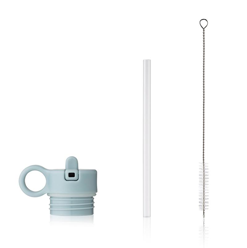Immagine di Liewood® Coperchio con cannuccia e spazzolino per pulire la boraccia Falk 350ml Sea Blue
