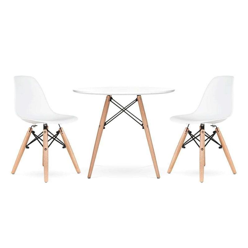Immagine di EM Furniture Set tavolino e  2 sedie per bambini  White