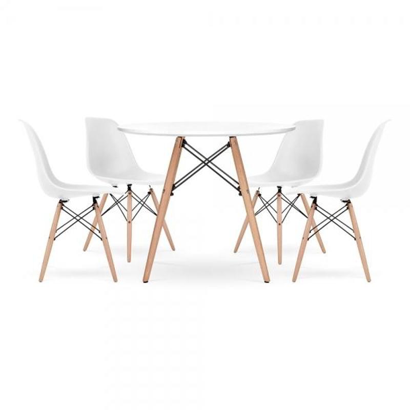 Immagine di EM Furniture Set tavolino e 4 sedie per bambini  White