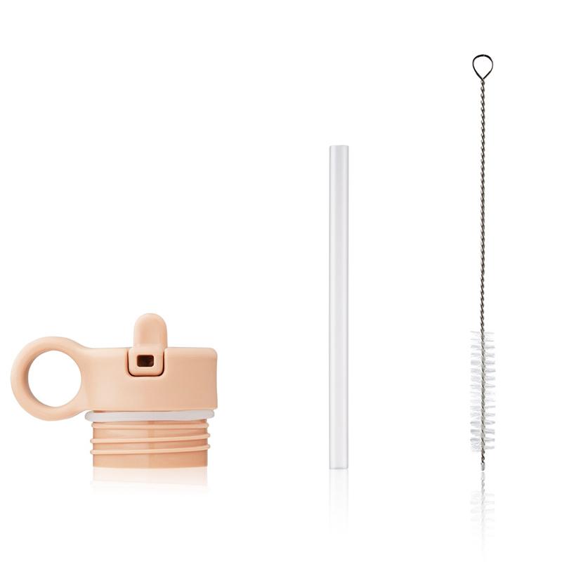 Immagine di Liewood® Coperchio con cannuccia e spazzolino per pulire la boraccia Falk 250ml Peach