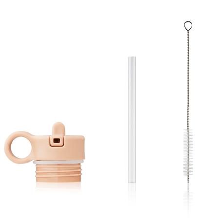 Liewood® Coperchio con cannuccia e spazzolino per pulire la boraccia Falk 250ml Peach