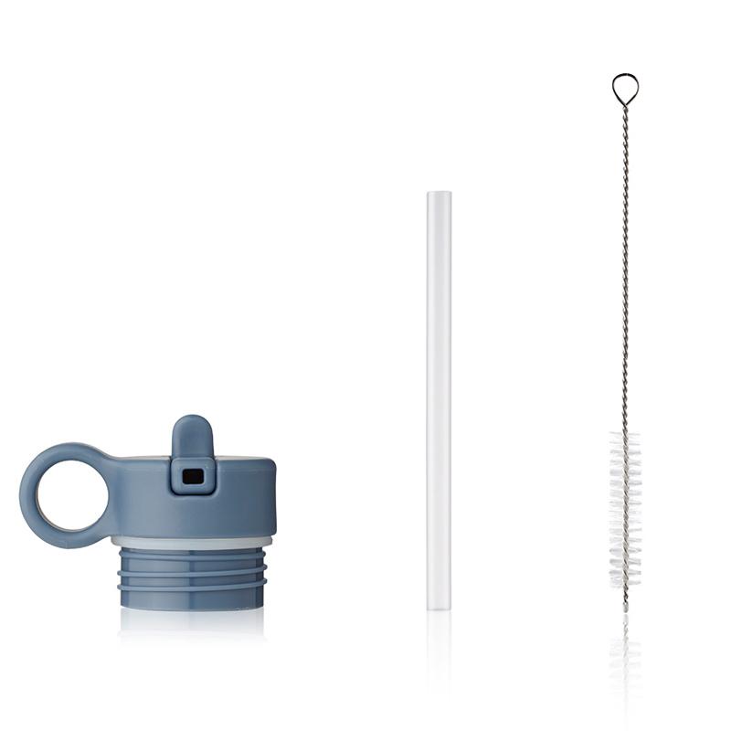 Immagine di Liewood® Coperchio con cannuccia e spazzolino per pulire la boraccia Falk 250ml Whale Blue