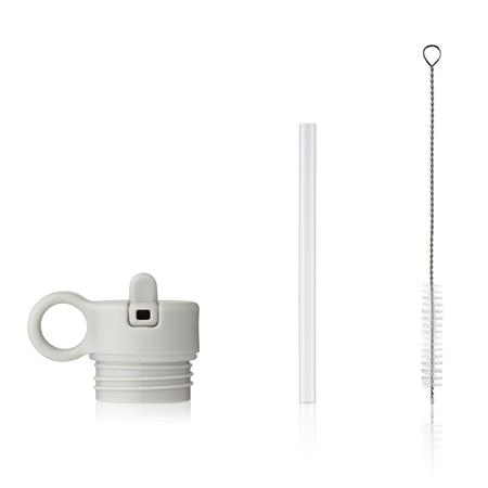 Liewood® Coperchio con cannuccia e spazzolino per pulire la boraccia Falk 250ml  Light grey
