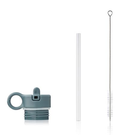 Immagine di Liewood® Coperchio con cannuccia e spazzolino per pulire la boraccia Falk 350ml Whale Blue
