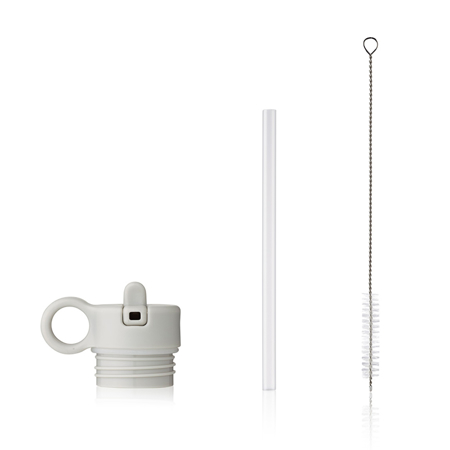 Liewood® Coperchio con cannuccia e spazzolino per pulire la boraccia Falk 350ml Light Grey