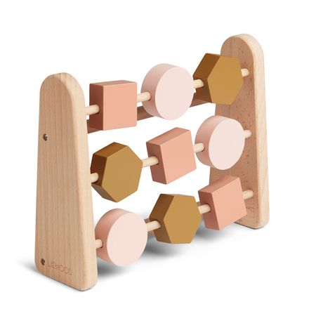 Liewood® Abaco in legno Abacus Geometric Rose Multi Mix