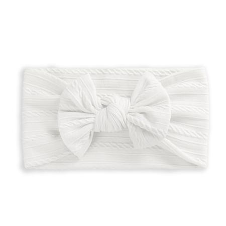 Immagine di Fascia per capelli con fiocco Boho White