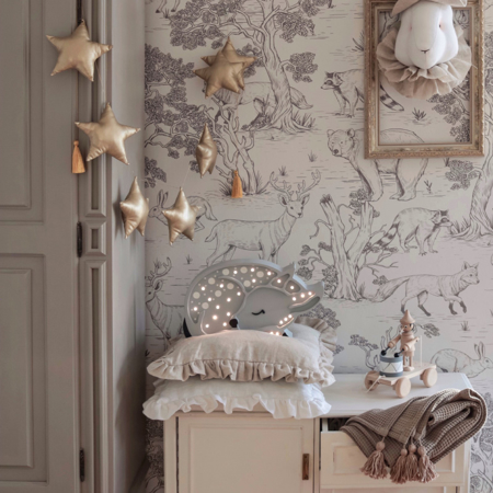Immagine di Little Lights® Lampada in legno fatta a mano Deer Forest Light Grey