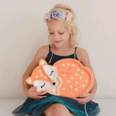 Immagine di Little Lights® Lampada in legno fatta a mano Fox Wild Orange