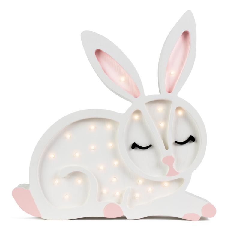 Immagine di Little Lights® Lampada in legno fatta a mano Bunny Snow White