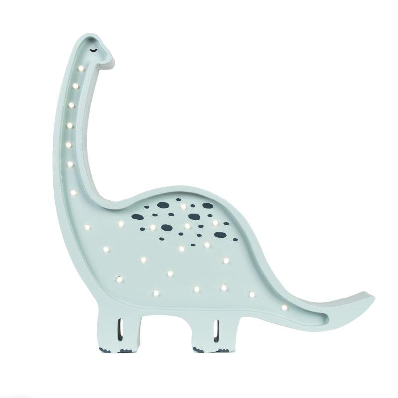 Immagine di Little Lights® Lampada in legno fatta a mano Dino Diplodocus Prehistoric Blue