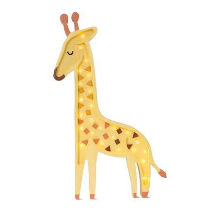 Immagine di Little Lights® Lampada in legno fatta a mano Giraffe Yellow