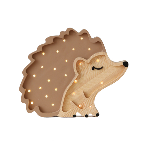 Immagine di Little Lights® Lampada in legno fatta a mano Hedgehog