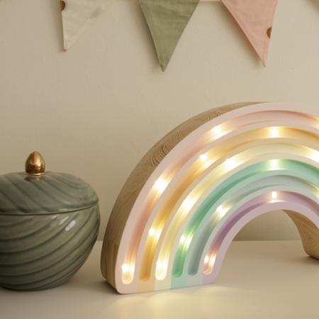 Immagine di Little Lights® Lampada in legno fatta a mano Rainbow Pastel