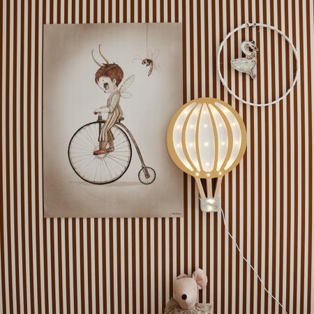 Immagine di Little Lights® Lampada in legno fatta a mano Hotairbaloon Mustard