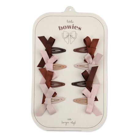 Konges Sløjd® Mollette con fiocco 8 pezzi Bow Blush