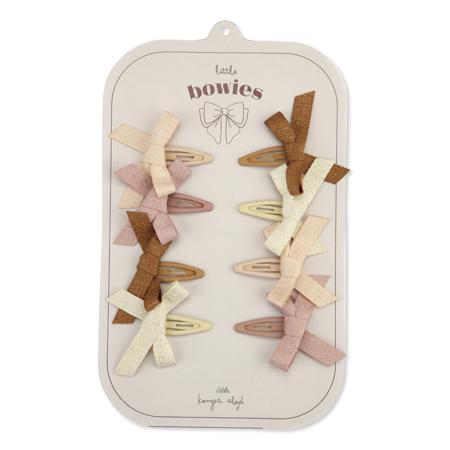 Immagine di Konges Sløjd® Mollette con fiocco 8 pezzi Bow Glitter Rose