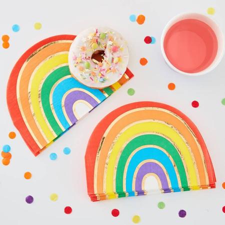 Ginger Ray® Tovaglioli di carta Rainbow Gold 16 pezzi