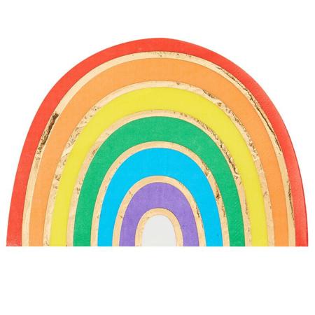 Immagine di Ginger Ray® Tovaglioli di carta Rainbow Gold 16 pezzi