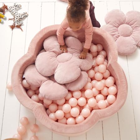 Kidkii® Set 3 cuscini Flower Velvet Pink