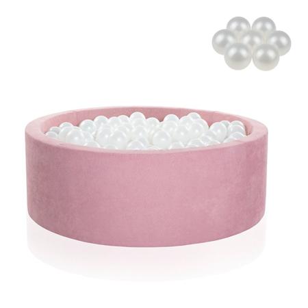 Immagine di Kidkii® Piscina con palline Pearl Round Rose 90x40