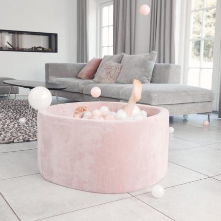 Immagine di Kidkii® Piscina con palline Grey Round Rose 90x40
