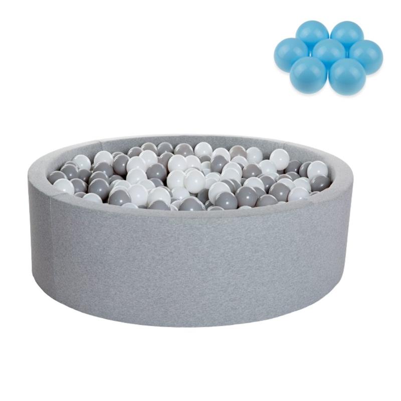 Immagine di Kidkii® Piscina con palline Blue Round Grey 90x40