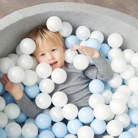 Immagine di Kidkii® Piscina con palline Grey Round Grey 90x40
