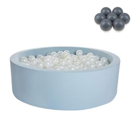 Immagine di Kidkii® Piscina con palline Grey Round Blue 90x30