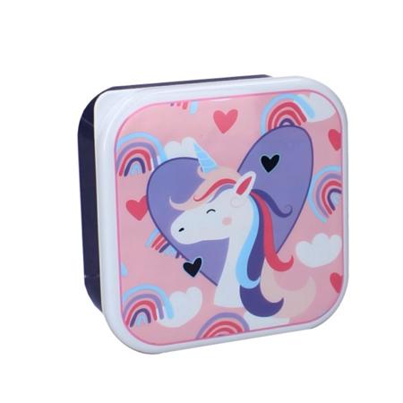 Pret® Set di contenitori per snack Eat Drink Repeat Unicorno