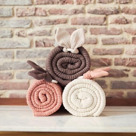 Immagine di Jollein® Coperta Spring Knit Chestnut 100x75
