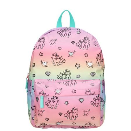 Kidzroom® Zainetto  Milky Kiss Rainbows and Unicorns Blue Pink (M)