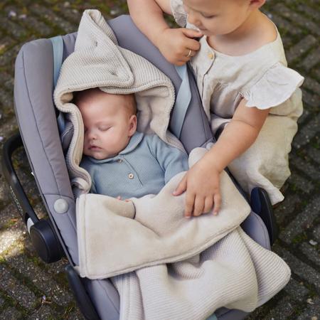 Immagine di Jollein® Copertina per seggiolino auto e passeggino Basic Knit Rosewood