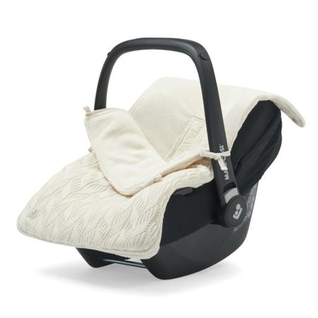 Jollein® Copertina per seggiolino auto e passeggino Basic Knit Ivory