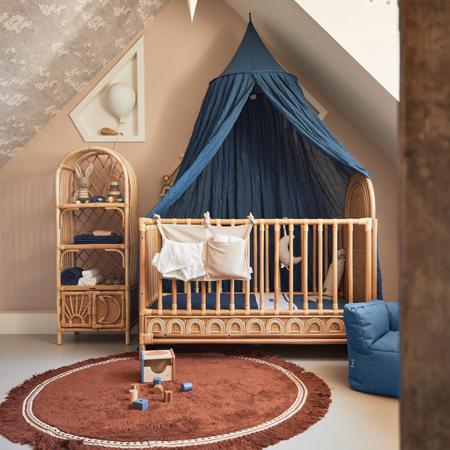Immagine di Jollein® Custodia per il lettino Corduroy Nougat