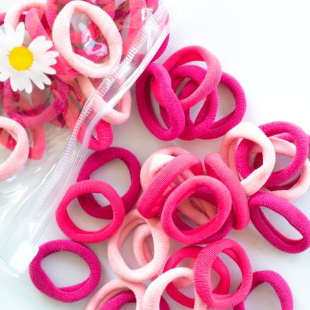 Immagine di Elastici per capelli Pink Mix Ø2.5cm 50 pezzi
