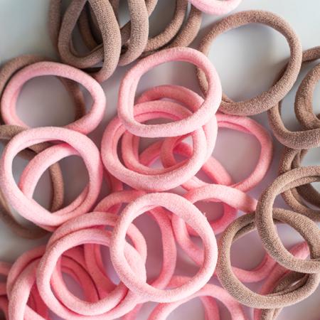 Immagine di Elastici per capelli Pink Mix Ø3,5cm 50 pezzi
