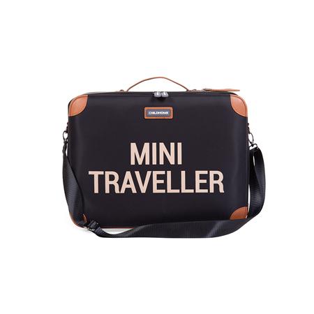 Childhome® Valigia da viaggio MINI Traveller Black and Gold