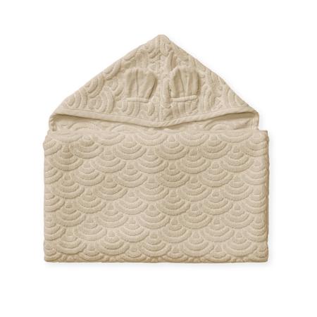 Immagine di  CamCam® Asciugamano con cappuccio e orecchie GOTS Almond 70x130