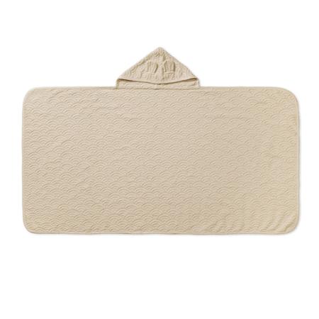 CamCam® Asciugamano con cappuccio e orecchie GOTS Almond 70x130