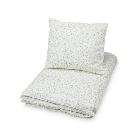 Immagine di CamCam® Biancheria da letto GOTS Green Leaves Junior 100x140, 45x40