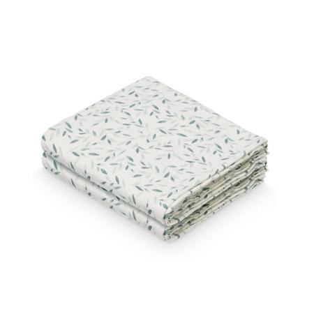 CamCam® Set di pannolini tetra GOTS Green Leaves 70 x 70